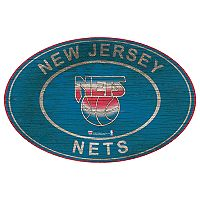 Brooklyn Nets Heritage Oval Wall Sign