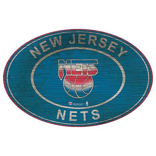 Brooklyn Nets Heritage Oval Wall Sign