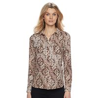 Women's Dana Buchman Cobblestone Button-Down Blouse