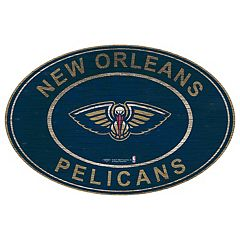 New Orleans Pelicans Heritage Oval Wall Sign