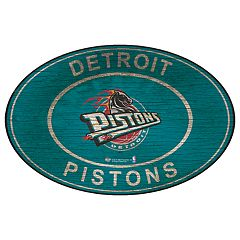 Detroit Pistons Heritage Oval Wall Sign