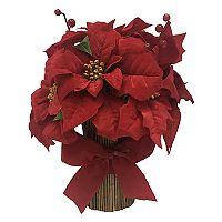 St. Nicholas Square® Artificial Red Poinsettia Table Decor