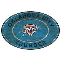 Oklahoma City Thunder Heritage Oval Wall Sign