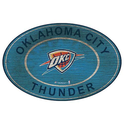 Oklahoma City Thunder Heritage Oval Wall Sign