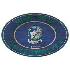 Minnesota Timberwolves Heritage Oval Wall Sign