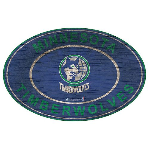 Minnesota Timberwolves Heritage Oval Wall Sign