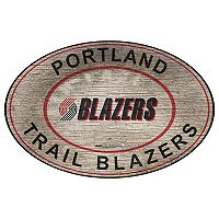 Portland Trail Blazers Heritage Oval Wall Sign