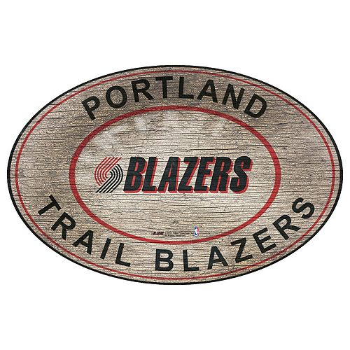 Portland Trail Blazers Heritage Oval Wall Sign