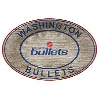 Washington Wizards Heritage Oval Wall Sign