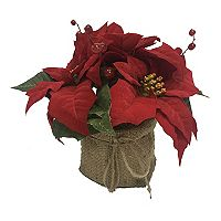 St. Nicholas Square® Artificial Poinsettia Table Decor