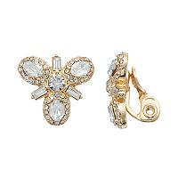 Napier Simulated Crystal Cluster Clip On Earrings