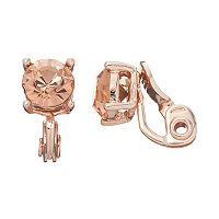 Napier Round Simulated Crystal Clip On Earrings