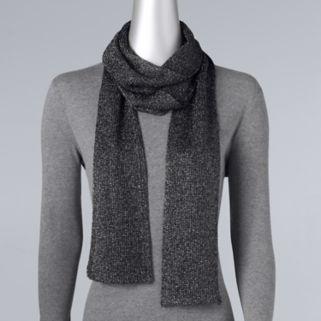 Simply Vera Vera Wang Shine Knit Skinny Scarf