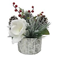 St. Nicholas Square® 10.5-in. Artificial Magnolia & Birch Table Decor