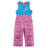 Toddler Girl Paw Patrol Skye Flower & Heart Fleece Bib Snow Pants