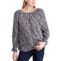 Women's Chaps Paisley Crinkle Top