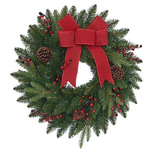 St. Nicholas Square® Pre-Lit Indoor / Outdoor Christmas Wreath