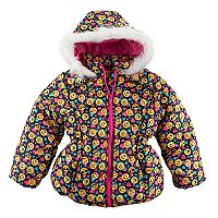 Girls 4-6x Emoji Heavyweight Puffer Jacket