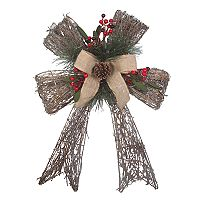 St. Nicholas Square® Light-Up Rustic Bow Wall Decor
