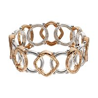 Napier Two Tone Geometric Stretch Bracelet