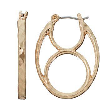 Napier Hammered Hoop Earrings