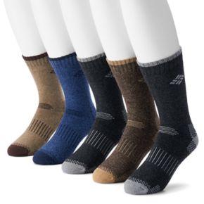Men's Columbia 5-pack Performance Crew Socks