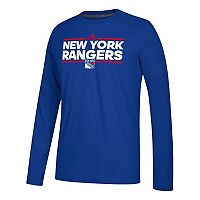 Men's adidas New York Rangers Dassler Long-Sleeved Tee