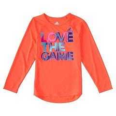 Girls 4-6x adidas 'Love The Game' Logo Tee
