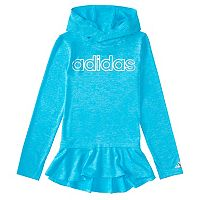 Girls 4-6x adidas Blue High Low Flounce Hoodie