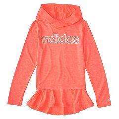 Girls 4-6x adidas High Low Flounce Hoodie