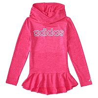 Girls 4-6x adidas Pink High Low Flounce Hoodie