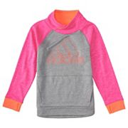 Girls 4-6x adidas Embroidered Pink Logo Pullover Hoodie