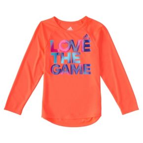 "Toddler Girl adidas ""Love the Game"" Graphic Tee"