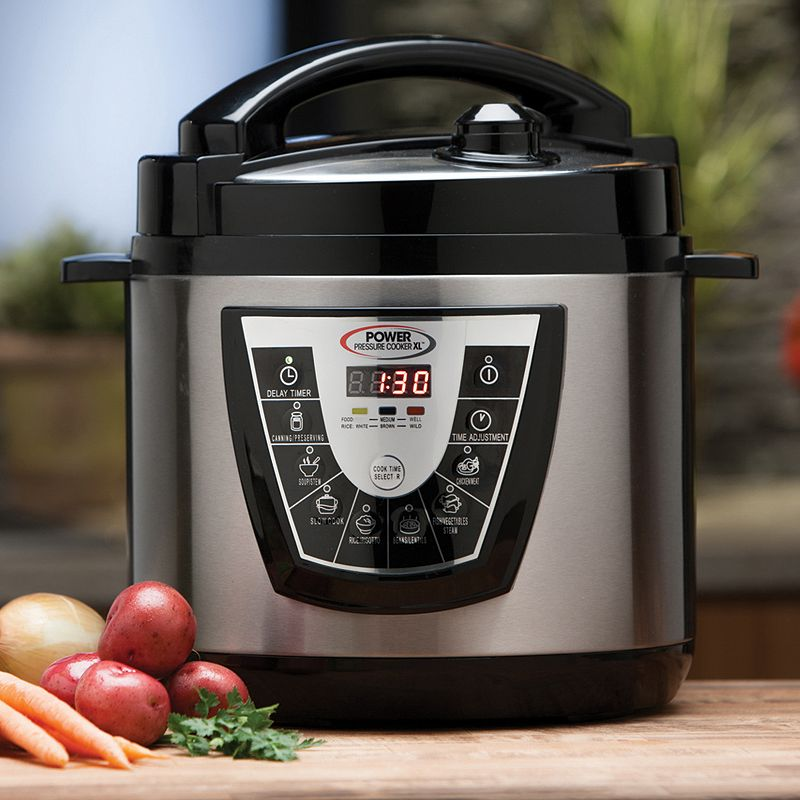 As Seen on TV Power Pressure Cooker XL, Silver