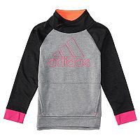 Toddler Girl adidas Black Colorblock Mockneck Sweatshirt