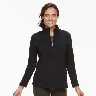 Petite Croft & Barrow® Quilted Zip-Up Jacket