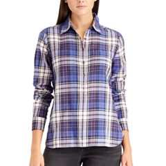 Petite Chaps Plaid Button-Down Shirt