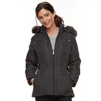 Women's Details Faux-Fur Trim Quilted Jacket