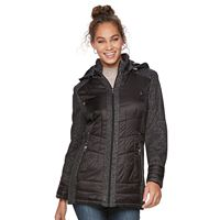 Women's d.e.t.a.i.l.s Hooded Mixed-Media Puffer Jacket