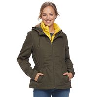 Women's d.e.t.a.i.l.s Hooded Anorak Jacket & Puffer Vest Set