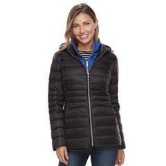 Women's d.e.t.a.i.l.s Hooded Puffer Jacket & Puffer Vest Set