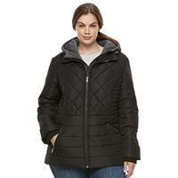 Plus Size Details Quilted Puffer Jacket
