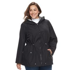 Plus Size d.e.t.a.i.l.s Reversible Hooded Jacket