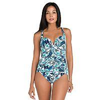 Women's Upstream Tummy Slimmer Floral One-Piece Swimsuit