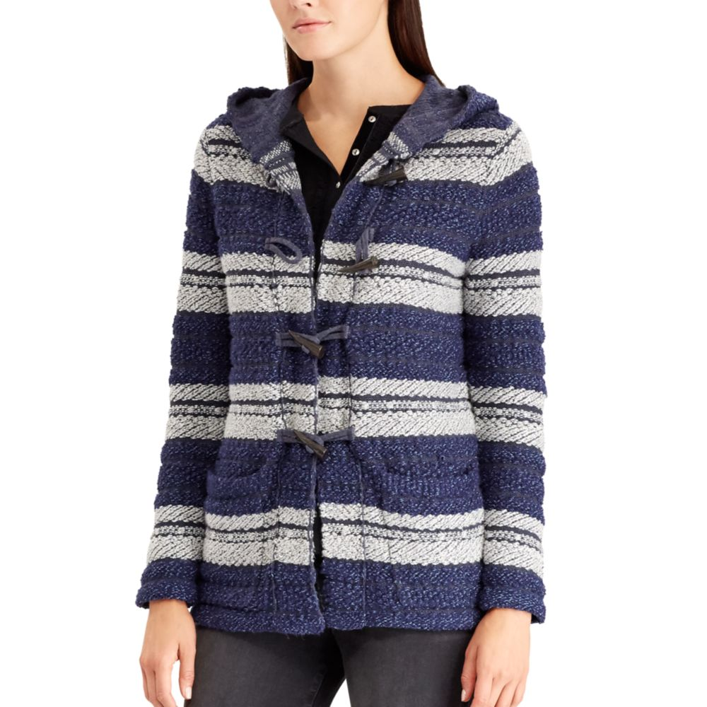 Chaps Hooded Jacquard Cardigan