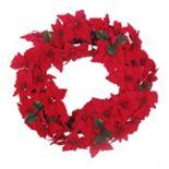 St. Nicholas Square® Artificial Poinsettia & Berry Wreath