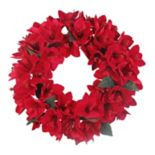 St. Nicholas Square® Artificial Red Amaryllis Wreath