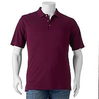 Big & Tall Grand Slam Classic-Fit Striped Airflow Performance Golf Polo