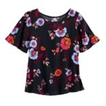 Girls 7-16 Mudd® Flutter Sleeve Criss-Cross Front Tee