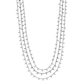 Simply Vera Vera Wang Two Tone Multi Strand Beaded Necklace